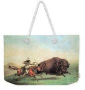 Native American Indian Buffalo Hunting Weekender Tote Bag