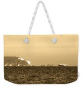 Needles On The Isle Of Wight As Viewed From Mudeford Weekender Tote Bag