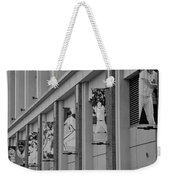 New York Mets Of Old In Black And White Weekender Tote Bag by Rob Hans