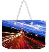 Night Traffic Weekender Tote Bag by Elena Elisseeva