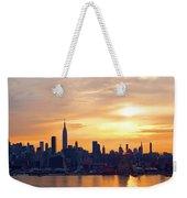 Ny Skyline Sunrise Gold Weekender Tote Bag