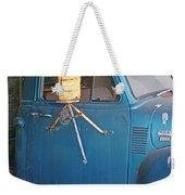 Old Blue Farm Truck Weekender Tote Bag