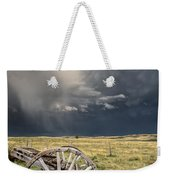 Old Prairie Wheel Cart Saskatchewan Weekender Tote Bag