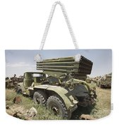 Old Russian Bm-21 Launch Vehicle Weekender Tote Bag