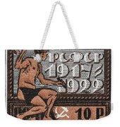 old Russian postage stamp Weekender Tote Bag