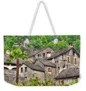 Old Rustic Village Weekender Tote Bag