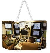 Operators Control Uavs From A Ground Weekender Tote Bag by HIGH-G Productions