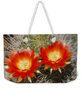 Orange Cactus Flowers Weekender Tote Bag