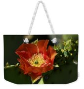 Orange Prickly Pear Blossom  Weekender Tote Bag