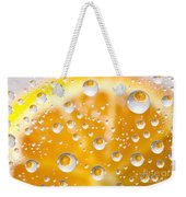 Orange Water Drops Weekender Tote Bag
