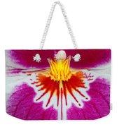 Orchid Closeup Weekender Tote Bag