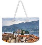 Orta - Overlooking The Island Of San Giulio Weekender Tote Bag