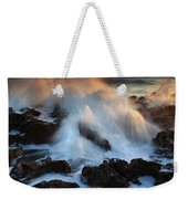 Over The Rocks Weekender Tote Bag by Mike  Dawson