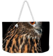 Side Portrait Of An Eagle Owl Weekender Tote Bag