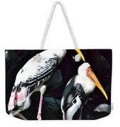 Painted Storks Weekender Tote Bag