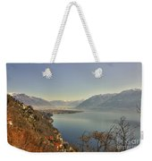 Panoramic View Over A Lake Weekender Tote Bag