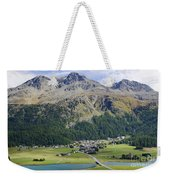 Panoramic View Over Mountain Weekender Tote Bag