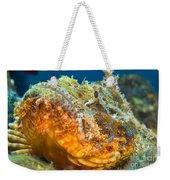 Papuan Scorpionfish Lying On A Reef Weekender Tote Bag