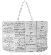Parade For The Us Constitution Weekender Tote Bag