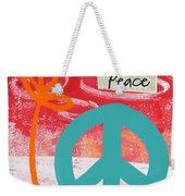 Peace Weekender Tote Bag by Linda Woods