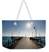 Pier In Backlight Weekender Tote Bag