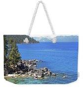 Pines Boulders And Crystal Waters Of Lake Tahoe Weekender Tote Bag