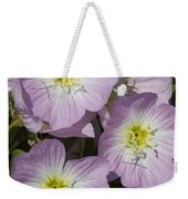 Pink Evening Primrose Wildflowers Weekender Tote Bag