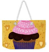 Pink Frosted Cupcake Weekender Tote Bag