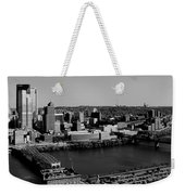 Pittsburgh In Black And White Weekender Tote Bag