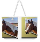 Pony Pose - Gently Cross Your Eyes And Focus On The Middle Image Weekender Tote Bag