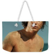 Portrait Of A Young Man On A Sea Shore Weekender Tote Bag