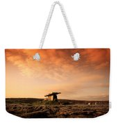 Poulnabrone Dolmen, The Burren, Co Weekender Tote Bag