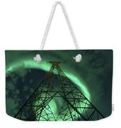 Powerlines And Aurora Borealis Weekender Tote Bag