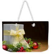 Present Decorated With Christmas Decoration Weekender Tote Bag