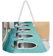 Public Restroom Weekender Tote Bag by Tom Gowanlock