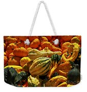 Pumpkins And Gourds Weekender Tote Bag by Elena Elisseeva
