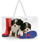 Puppies With Rain Boots Weekender Tote Bag