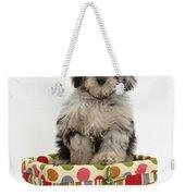 Puppy In A Basket Weekender Tote Bag