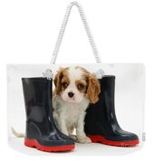 Puppy With Rain Boots Weekender Tote Bag