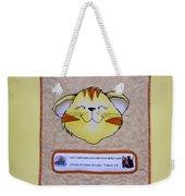 Quilted Cat  Weekender Tote Bag