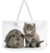 Rabbit And Kitten Weekender Tote Bag