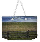 Rail Fence And Field Along The Blue Ridge Parkway Weekender Tote Bag