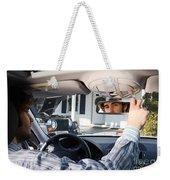 Rear-view Mirror Weekender Tote Bag