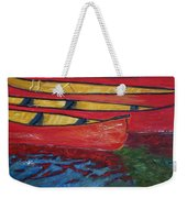 Red Boats Weekender Tote Bag