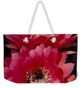 Red Cactus Flowers Weekender Tote Bag
