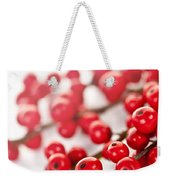 Red Christmas Berries Weekender Tote Bag