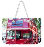 Red London Bus Weekender Tote Bag