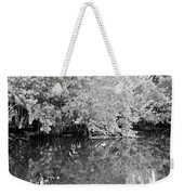 Reflections On The North Fork River In Black And White Weekender Tote Bag