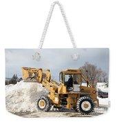 Removing Snow Weekender Tote Bag by Ted Kinsman