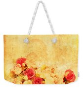 Retro Flower Pattern Weekender Tote Bag